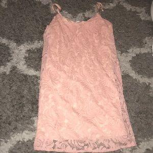 Dresses & Skirts - Pink lace dress